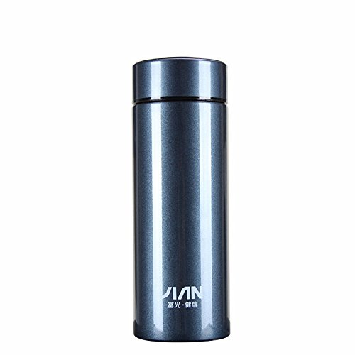 Blue Stainless Steel Flask Insulated Bottle Travel Mug 11Oz