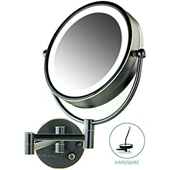 Amazon Com Ovente Lighted Wall Mount Mirror 8 5 Inch