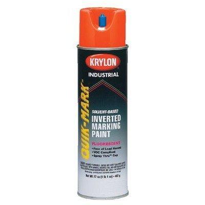 Krylon A03702 Quik-Mark Paint Enamel, 17 oz, Fluorescent Orange (Pack of 12) ()