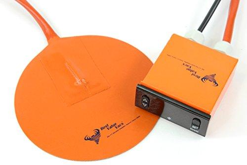 Best Value Vacs Heatpad6inch Borosilicate Glass Vacuum Chamber Digital Heat Pad, 6' Diameter