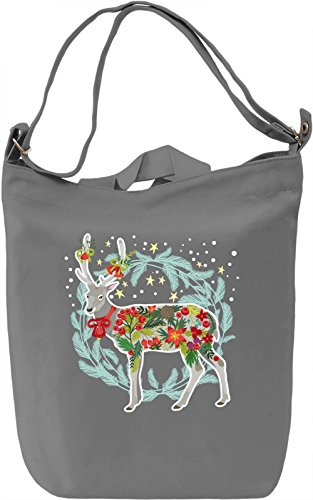Christmas deer Borsa Giornaliera Canvas Canvas Day Bag| 100% Premium Cotton Canvas| DTG Printing|