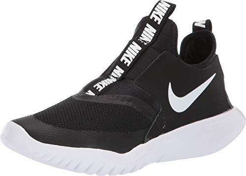 Nike Big Boy's Kid Flex Runner Running Shoes Black/White (6.0, Black/White) (Nike Shoes For Little Kids)