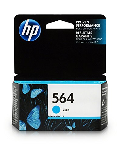 HP 564 Ink Cartridge, Cyan (CB318WN) for HP Deskjet 3520 3521 3522 3526 HP Officejet 4610 4620 4622 HP Photosmart: 5510 5512 5514 5515 5520 5525 6510 6512 6515 6520 6525 7510 7515 7520 7525 B8550 C6340 C6350 D7560 C510 B209 B210 C309 C310 C410 C510 (564 Series)