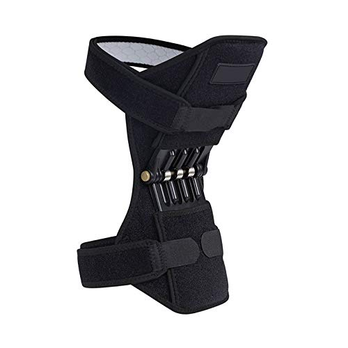 QYLLXSYY 1Pair Patella Booster Spring Knee Brace Joint Support Knee Pads for Mountaineering Squat Hiking Sports Knee Booster Kneepad (Color : 1Pc) by QYLLXSYY