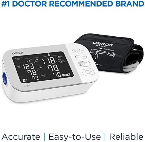 OMRON Platinum Blood Pressure Monitor, Premium Upper Arm Cuff, Digital Bluetooth Blood Pressure Machine, Storesup to 200 Readings for Two Users (100 Readings Each)