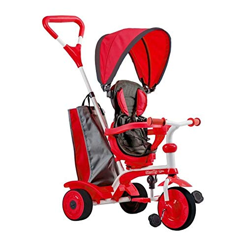Mondo Trycicles, Red, Storage Basket, Footrest, Adjustable Swivel Seat Strolly Spin, 25340, Single