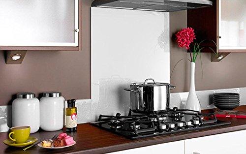 COPETE DE VIDRIO COLOR para frentes de cocinas en diferentes medidas / Zócalo de Encimera antisalpicaduras en cristal (80cm x 14cm, Morado): Amazon.es: ...