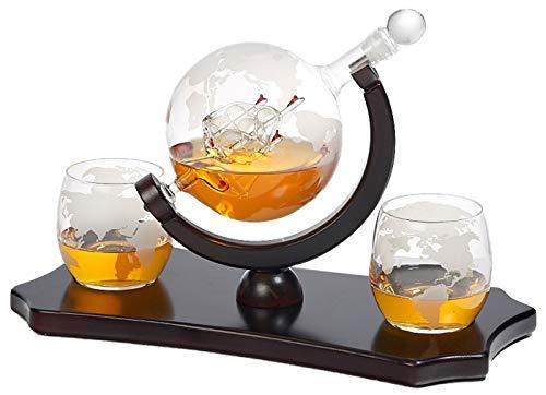 Whiskey Decanter Glasses Classic Mahogany