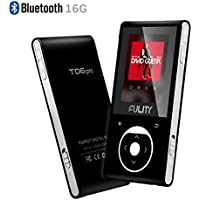 16GB MP3 Player with Bluetooth Support up to 128GB-(Black & Silvery) by FULITY