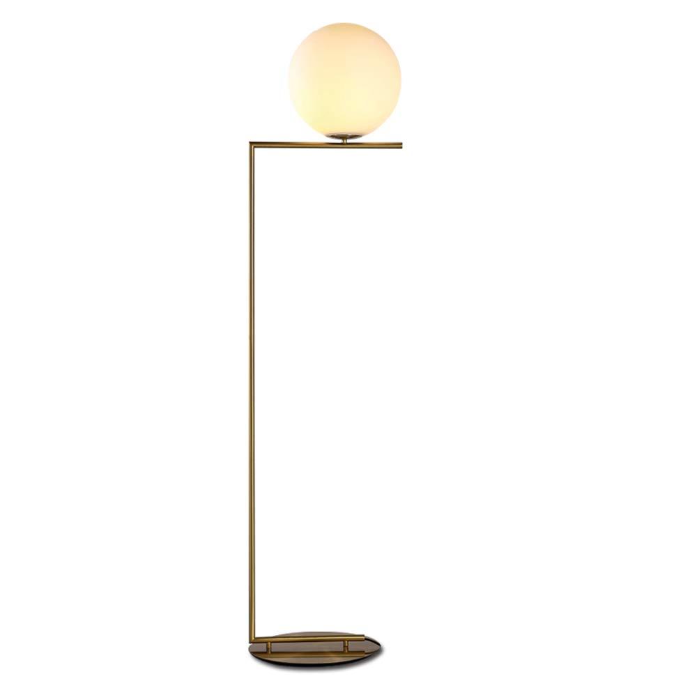Glass floor lamps gold globe shade diameter 30cm lights brass linear led floor light artistic for bedroom beside decoration home lighting amazon com