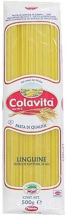 リングイーネ 500g (コラヴィータ)【きし麺のような平たいロングパスタ】【カルボナーラやミートソースなど濃厚なソースによく合います】