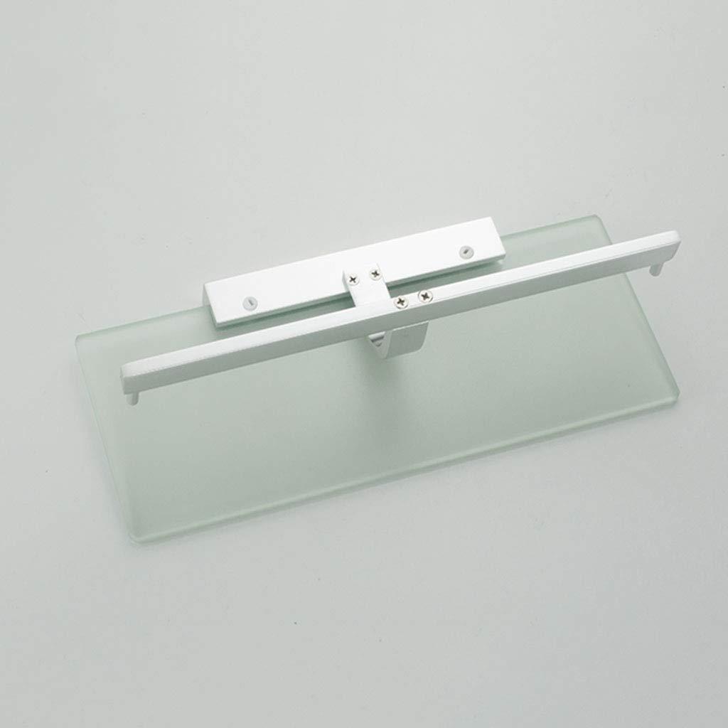 GWM Porta Carta igienica Montaggio a Parete Senza Spazio di Foratura Porta Tessuto in Alluminio Impermeabile per Bagno Porta Cellulare in Vetro a Doppio Rotolo Porta Rotolo di Carta