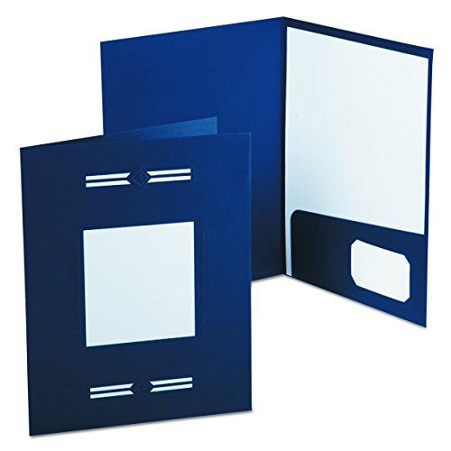 Oxford 10072 Imperial Series Laserview Business Portfolio, Premium Paper, Blue (Pack of 10)