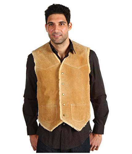 Scully Men's Boar Suede Leather Vest Tobacco X-Large