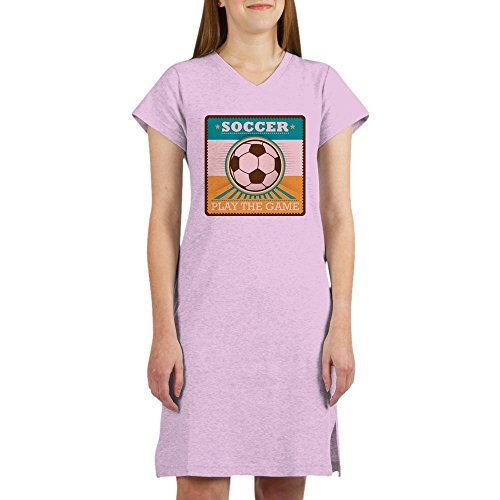 Royal Lion Women's Nightshirt (Pajamas) Soccer Football Futbol Play The Game - Pink, Medium