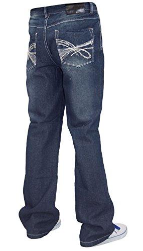 Mens WWK Denim Jeans Dark Blue 34W Regular