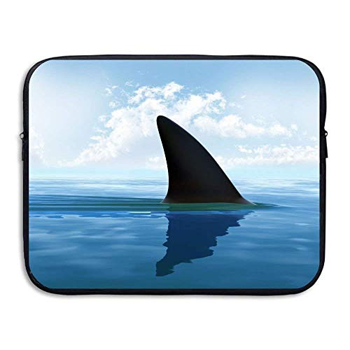 Beach Surfer Laptop Case, Shark Clouds Blue Ocean 13-15 Inch 13-15 Inch Laptop Sleeve, Water Repellent Universal Portable Computer Liner Case Laptop Sleeves Notebook Bag Cover for Women Men