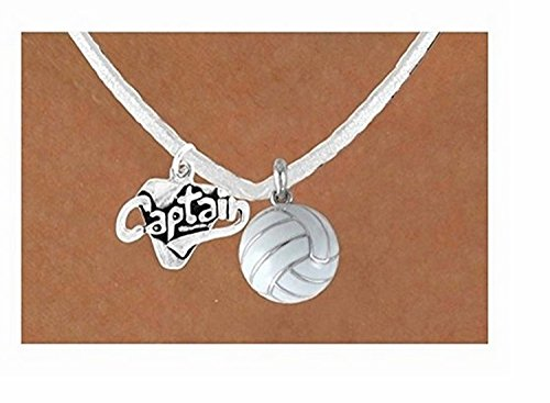 ''Captain'' & White Volleyball Necklace by Lonestar Jewelry