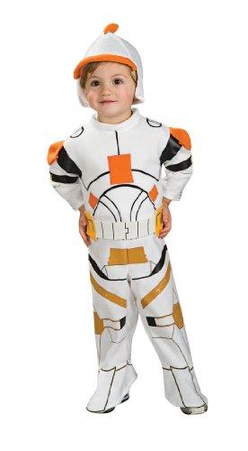 [2 PC. Toddler's Clone Trooper Romper Set - 24 Months - White] (Clone Trooper Commander Cody Child Costume)