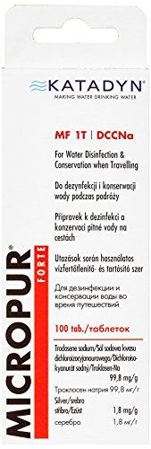 Katadyn Wasserdesinfektion Micropur Forte MF 1T - 100 Tabletten, 99,8 mg/g