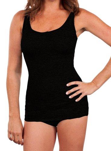 Krinkle Chlorine Resistant Women's Scoop Neck Sheath Black 18W