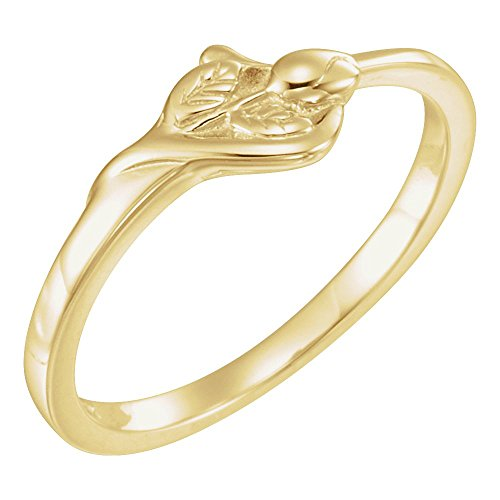 Bonyak Jewelry 14k Yellow Gold The Unblossomed Rose Ring - Size - Gold Unblossomed Rose