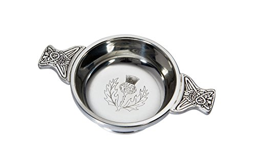 Wentworth Pewter - Thistle Pewter Quaich, Whisky Tasting Bowl, Loving Cup, Burns ()