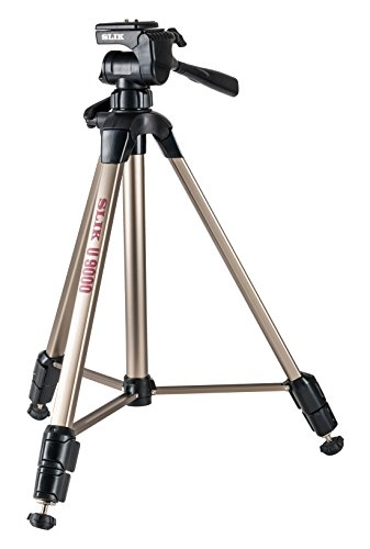 Slik U9000 Tripod with 3-Way Fluid-Effect Head and Built-In Bubble Level