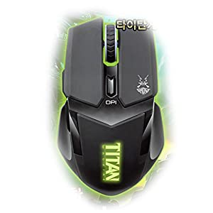 TITAN Gaming MOUSE,LED Illumination Four Colors of DPI,4500FPS Super-fast scan,Using Both Hands