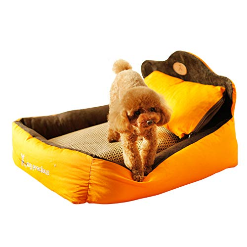 L [recommended for medium and large dog Pet Bed Kennel Dogbed Cave Cashmere Mat Sleeping Cushion Cooling Washable Soft Available Warm Litter House Outdoor Hut Pads Cotton Large Thatched Shelter Crate Anti-Mold Supplies Medium Indoor Suprem