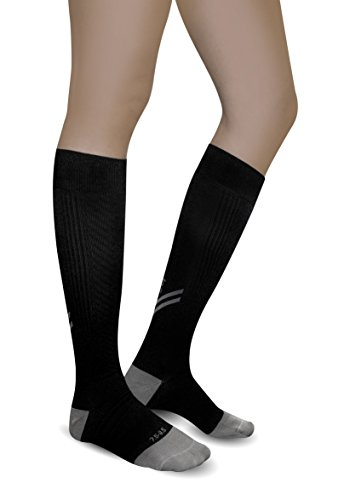 Graduated Pro Compression Socks By AprilTex. Great Recovery Sport Socks For Athletic Workout & Running. Foot & Calf Support For Plantar Fasciitis, Edema, Shin splints & More. Reduce Pain & Swelling