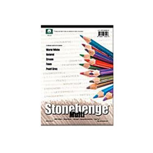 9/x 12 anl21-stp250mc912 legion Paper Stonehenge multi color Paper Pad