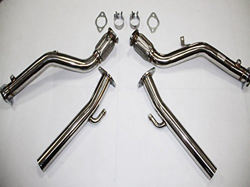 "XS-POWER BRAND B6 B7 DOWNPIPES ""Compatible"" WITH Automatic Tranny Replacement for 2004 2006 2008 B6 B7 S4 Tiptronic Pipes Down pipes B6 B7 S4 Tiptronic version"