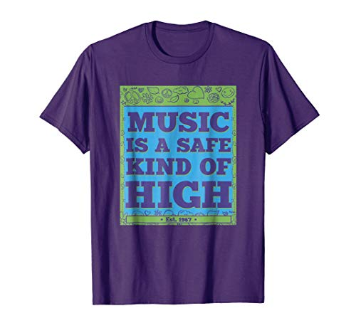 Music is a Safe High Experience Purple T-Shirt