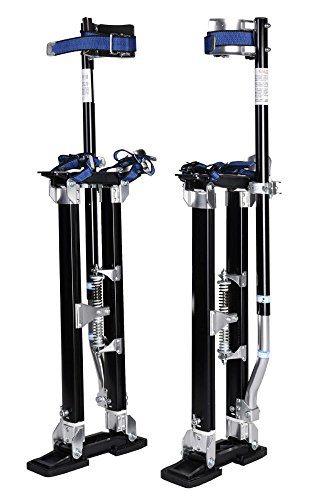 NEW! Black 24-40 Inch Drywall Stilts Aluminum Tool Stilt For Painting Painter Taping from Unknown