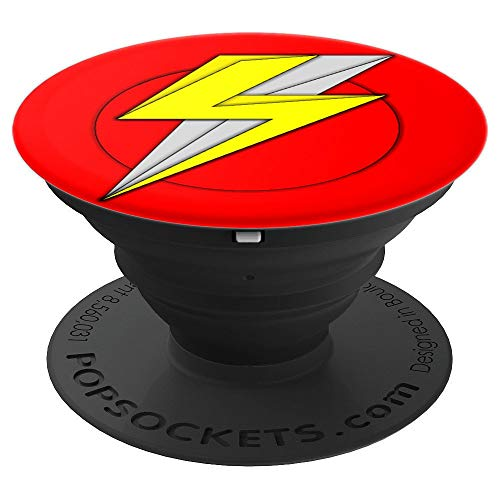 Superheroes Lightning Bolt Pop Socket to Gift With Cape Toys - PopSockets Grip and Stand for Phones and -