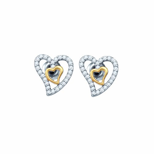 1/4 Total Carat Weight DIAMOND HEART EARRING by Jawa Fashion