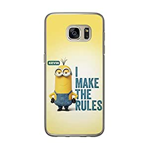 Loud Universe Samsung Galaxy S7 Files Minion 1 Kevin I Make The Rules Printed Transparent Edge Case - Yellow