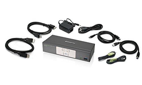 IOGEAR 2-Port 4K UHD DisplayPort KVMP Switch with USB 3.0 Hu