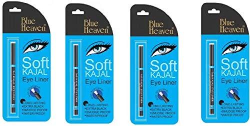 Blue Heaven Soft Kajal Pack of 4  Black, 35 g