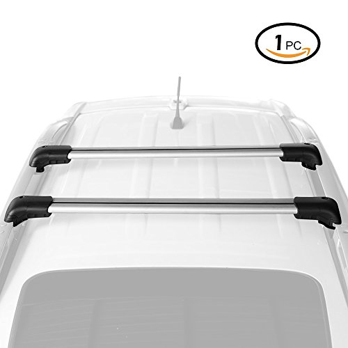 AUXMART Cross Bar 1Pc Roof Rack CrossBar Universal Roof Top Cargo Rack Cross bar (37 inch-39 inch) - 175 LBS/80 KG Capacity