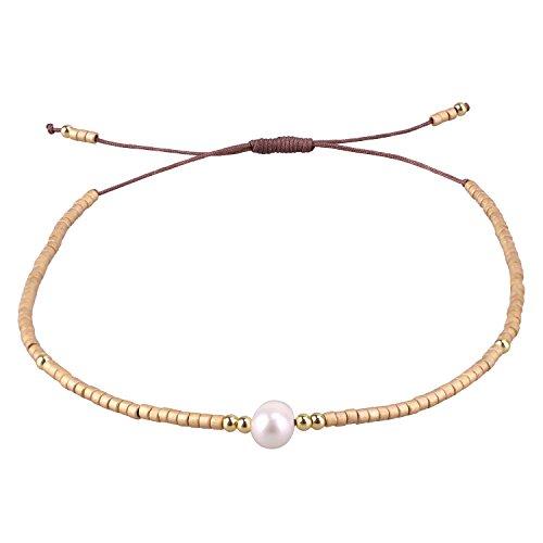C·QUAN CHI Colorful String Bracelets Woven Strand Bracelet Handmade Braided Bracelet Bohemian Jewelry Women Gift for Best Friend