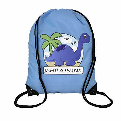 The Supreme Gift Company Personalised Kids Blue Dinosaur Drawstring  Swimming c77f1ffed7fe2