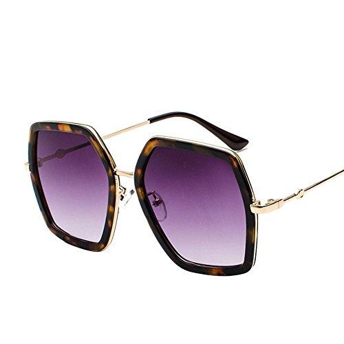 Aoligei Rond visage metal lunettes de soleil femme lunettes de soleil mans personnalité Style élégant de lunettes KFNYD