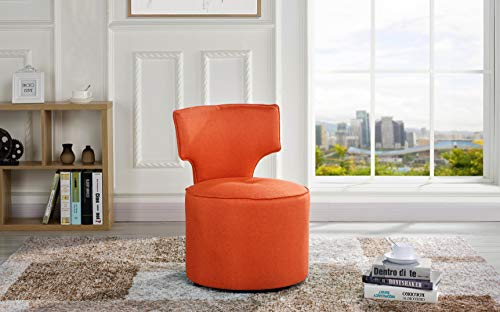 (Housel Living HSL-C59 Accent Chair, Orange)