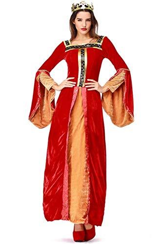 Thrones Queen Cersei Lannister Red Dress Halloween Cosplay Costume -