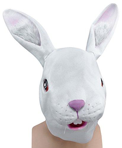 Bristol Novelty BM250 Mascara cubrecabeza de Conejo, Blanco, Talla u