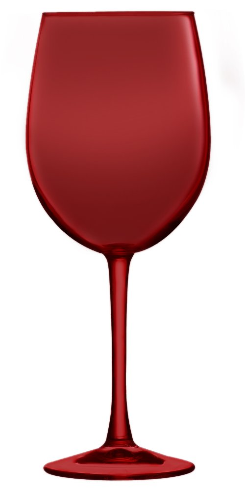 Red Cachet White Wine Glass Set of 6 (Additional Colors Available)