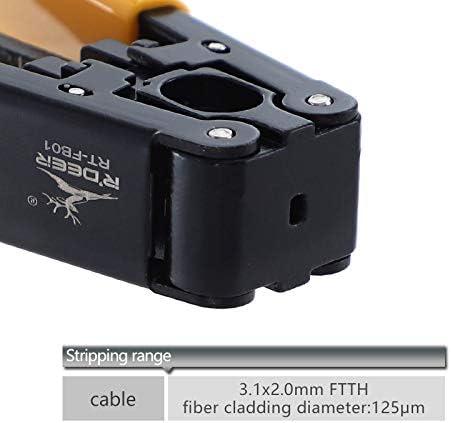 Alician ワイヤーストリッパー3.1x2.0mm亜鉛合金ケーブルストリッパープライヤーFTTHドロップケーブルプライヤーツール 家庭用ツール