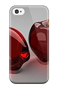 CATHERINE DOYLE's Shop Best First-class Case Cover For Iphone 4/4s Dual Protection Cover Glass Cherries 5628371K44434306